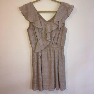 Beige Ruffle Sun Dress